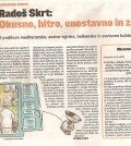 Recenzija knjige Okusno, Slovenske novice
