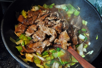 mongolsko meso recept