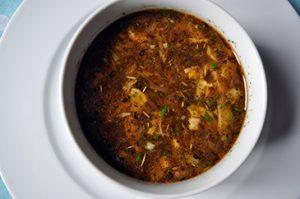 gobova juha z jurcki recept