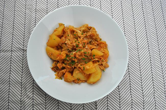 ohrovt s krompirjem recept