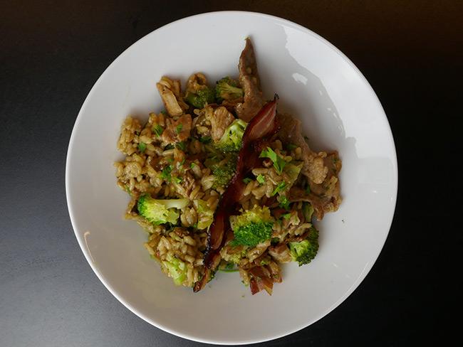 rižota s svinjskim mesom