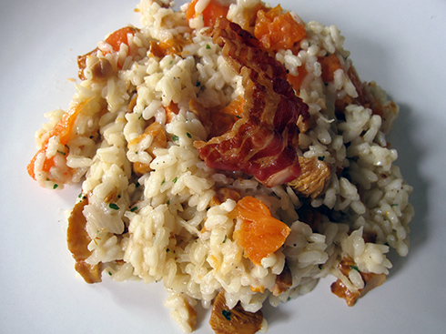 rižota lisičke