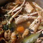 škampi juha recept